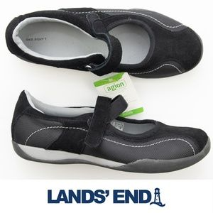 Lands' End Comfort Mary Jane Shoes NWT Black 7